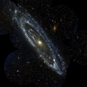 Andromeda (seen here in ultraviolet).